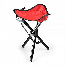DURAMAXX Hordozható kempingszék, horgász szék, piros-fekete, 500 g