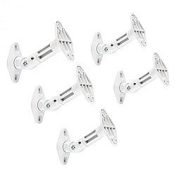 Electronic-Star fali hangfaltartók, 5 darabos szett, falra, mennyezetre, fehér