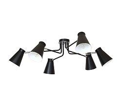 Luminex Mennyezeti lámpa BEVAN 6 6xE27/60W fekete