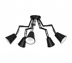 Luminex Mennyezeti lámpa MECHANO 5 5xE27/60W fekete