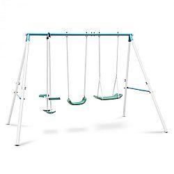 OneConcept Olav, kék, gyerekhinta acél konstrukcióval, kerti használatra