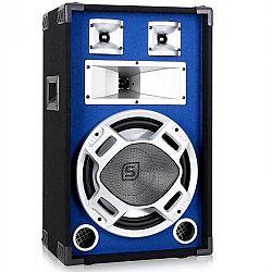 PA hangfal Skytec, 30 cm, kék, LED fényhatás, 600 W
