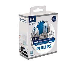 Philips Készlet 2 x autó izzó Philips WHITEVISION 12342WHVSM H4 P43t