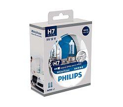 Philips Készlet 2 x autó izzó Philips WHITEVISION 12972WHVSM H7 PX26d/55W/12V
