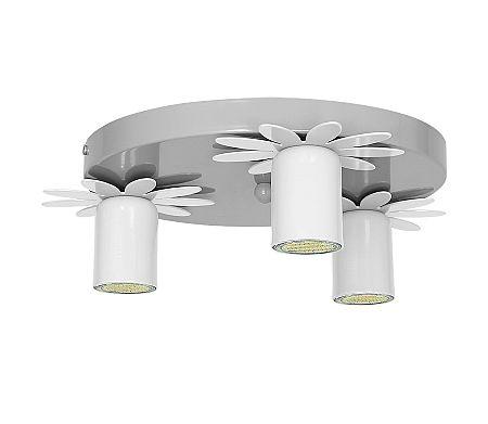 Decoland Gyerek mennyezeti lámpa KWIATEK 3xGU10/40W/230V fehér