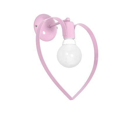 Decoland Gyermek fali lámpa LOVE 1xE27/60W/230V halvány rózsaszín
