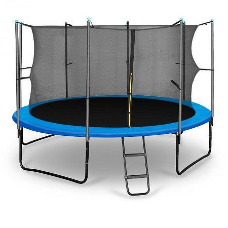 KLARFIT Rocketboy 366, 366 cm trambulin, belső biztonsági háló, széles létra, kék
