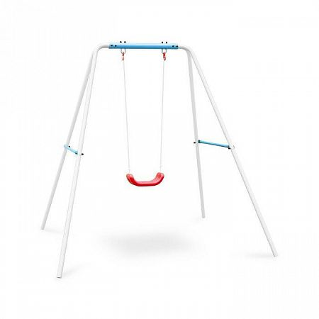 OneConcept Miri, kék, gyerekhinta acél konstrukcióval, kerti használatra